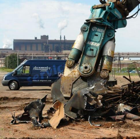 Hidraulikus roppantó vágóolló építőipari alkalmazás