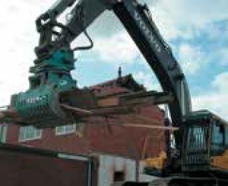 építőanyagok szétválogatása